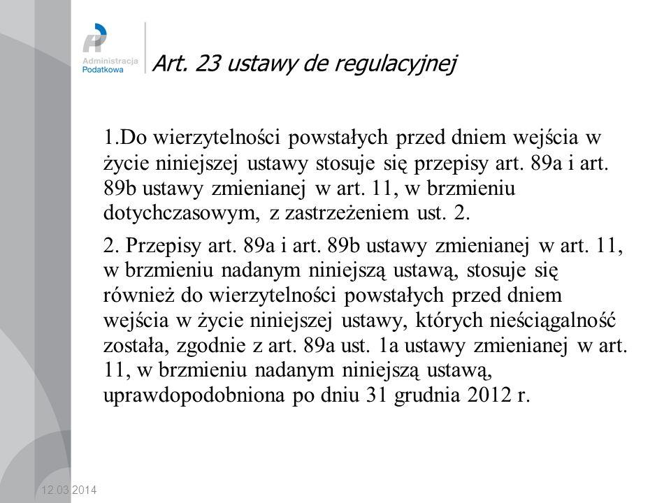 Art. 23 ustawy de regulacyjnej
