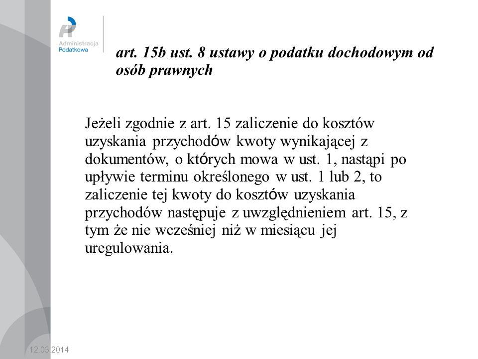 art. 15b ust. 8 ustawy o podatku dochodowym od osób prawnych