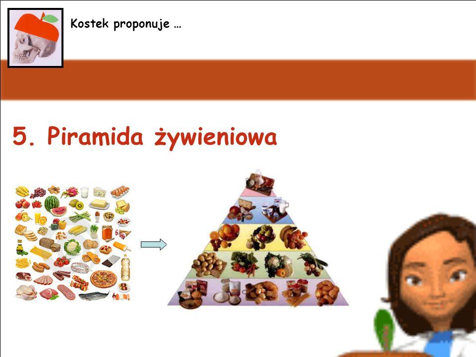 Kostek proponuje ... Kostek proponuje … 5. Piramida żywieniowa
