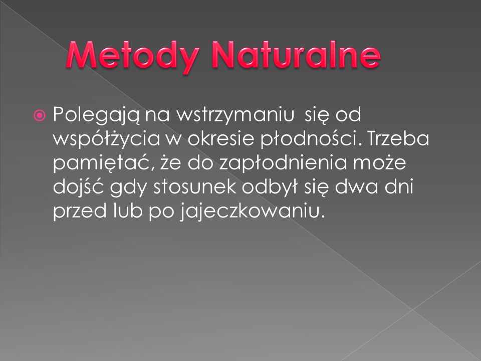 Metody Naturalne