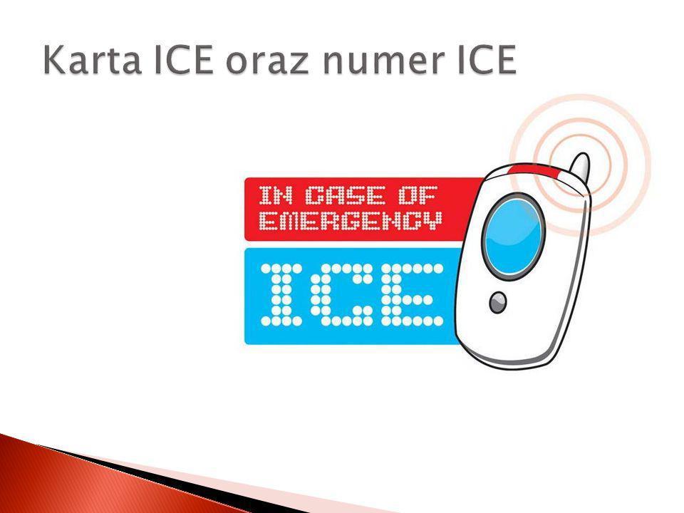 Karta ICE oraz numer ICE