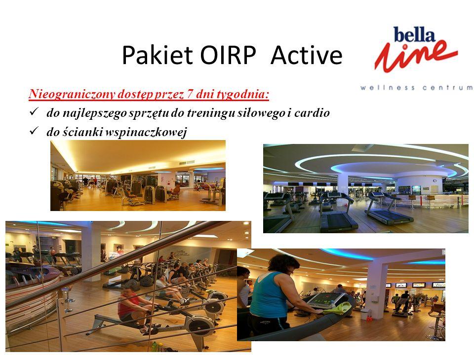 Pakiet OIRP Active Nieograniczony dostęp przez 7 dni tygodnia: