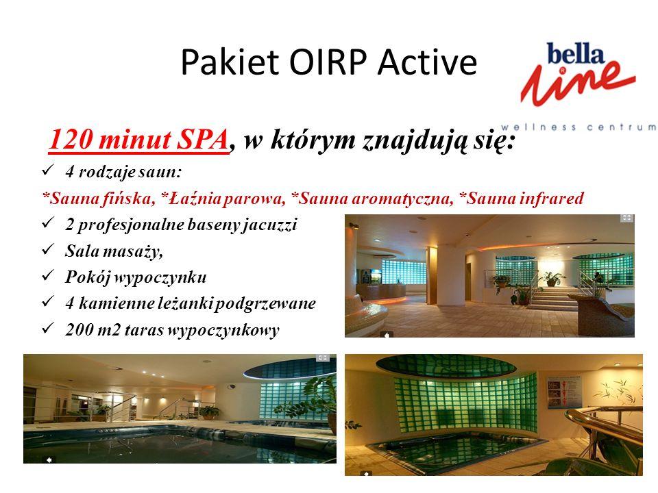 Pakiet OIRP Active 120 minut SPA, w którym znajdują się:
