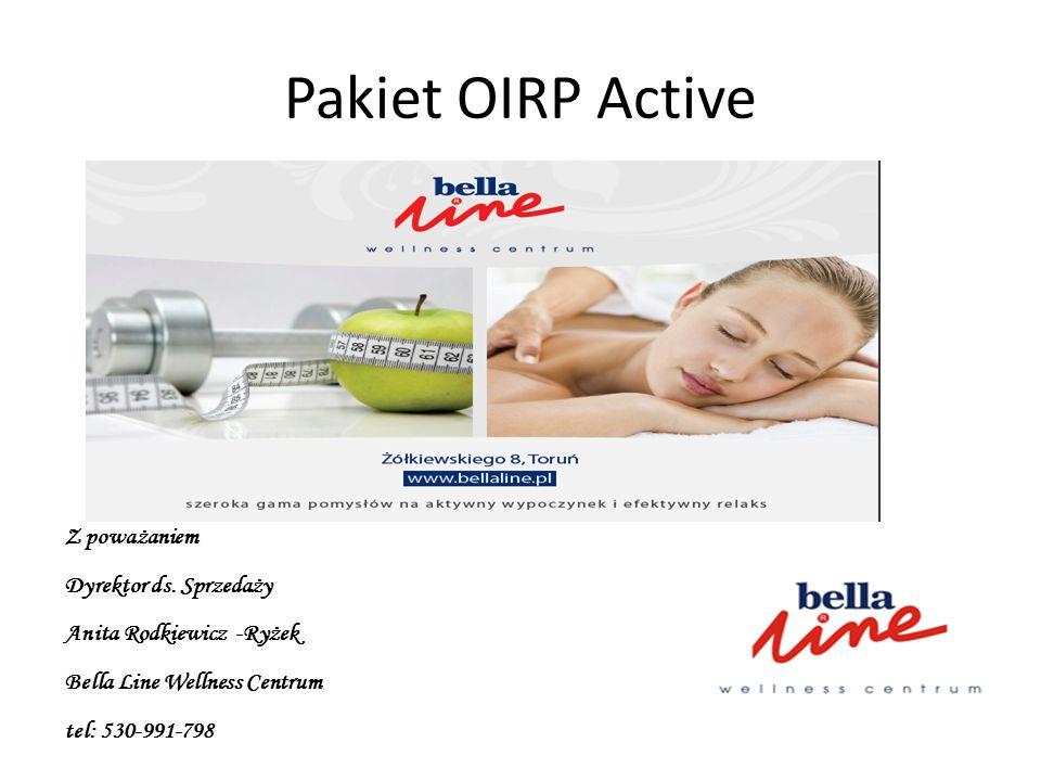 Pakiet OIRP Active Z poważaniem Dyrektor ds. Sprzedaży