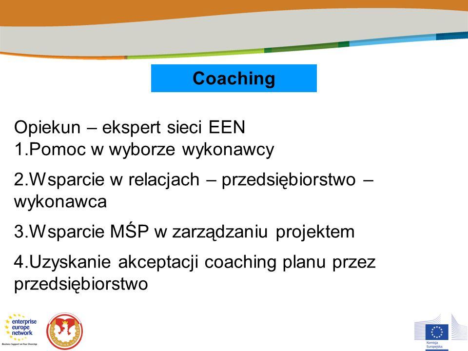 Opiekun – ekspert sieci EEN 1.Pomoc w wyborze wykonawcy
