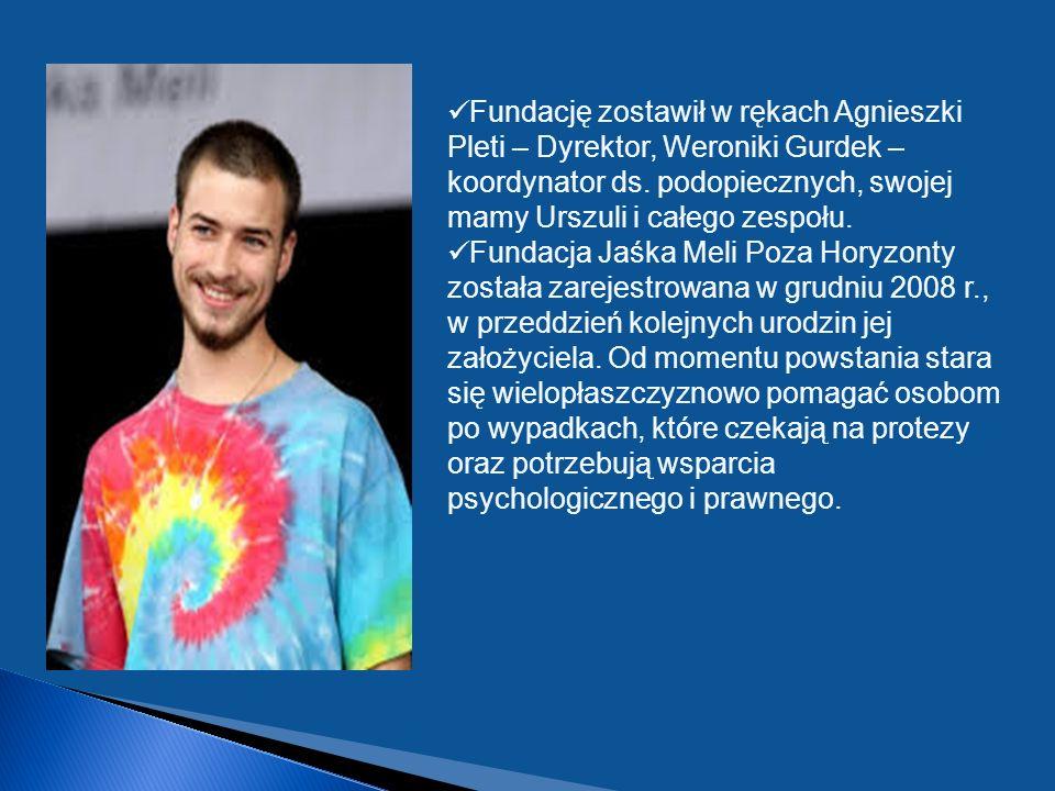 Fundację zostawił w rękach Agnieszki Pleti – Dyrektor, Weroniki Gurdek – koordynator ds. podopiecznych, swojej mamy Urszuli i całego zespołu.