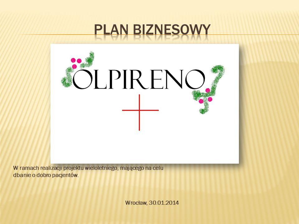 Plan biznesowy W ramach realizacji projektu wieloletniego, mającego na celu. dbanie o dobro pacjentów.