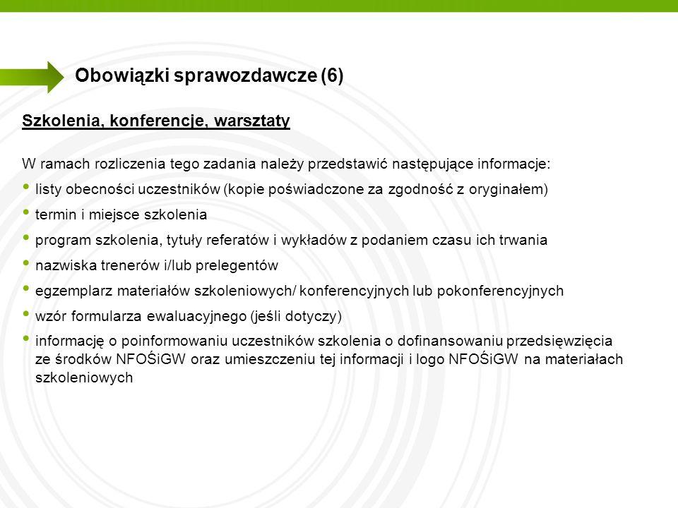 Obowiązki sprawozdawcze (6)