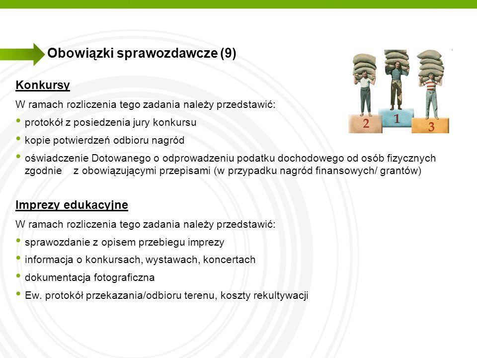 Obowiązki sprawozdawcze (9)