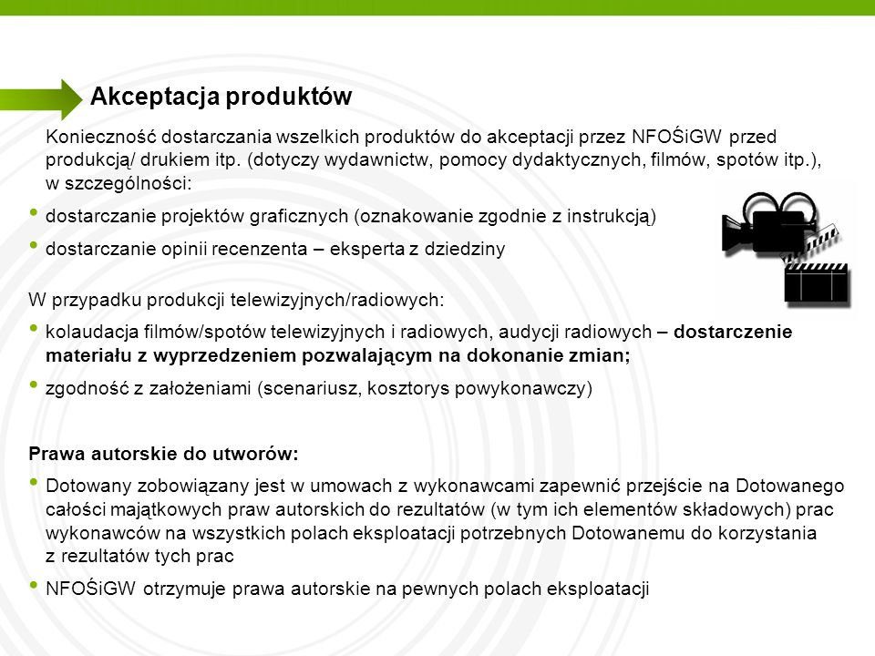 Akceptacja produktów