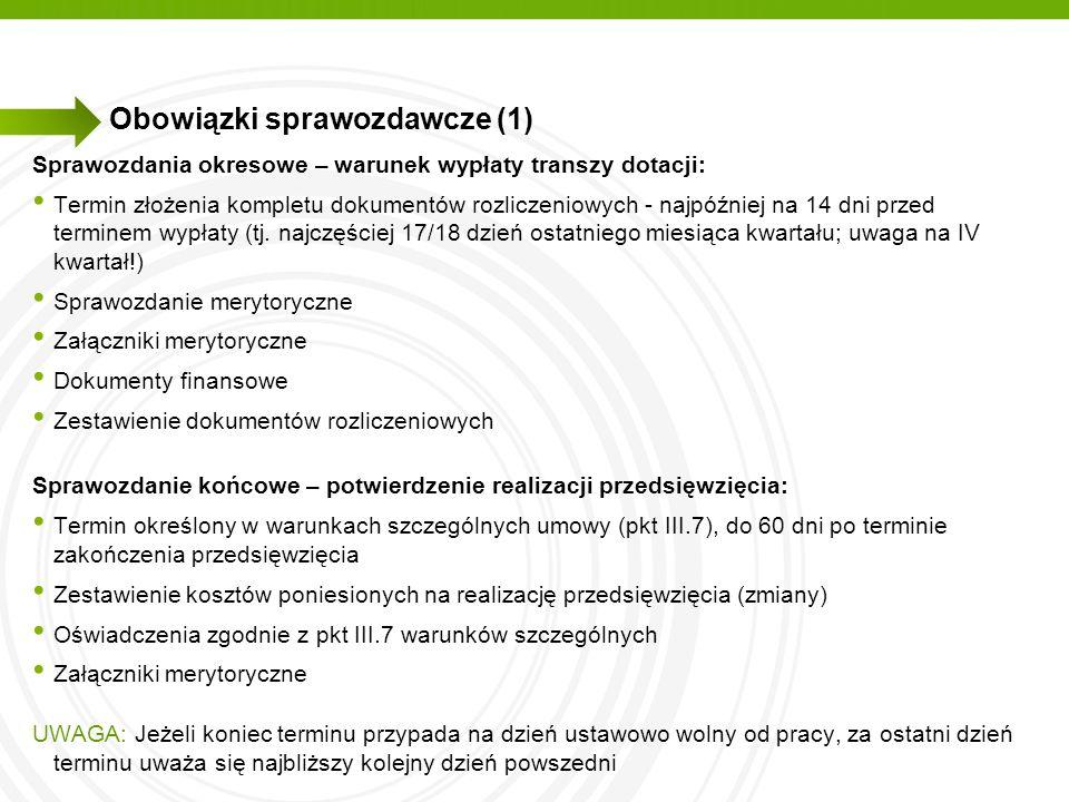 Obowiązki sprawozdawcze (1)