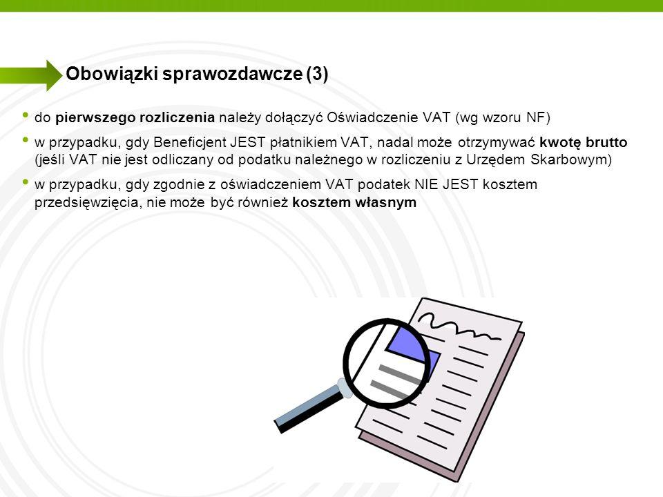 Obowiązki sprawozdawcze (3)