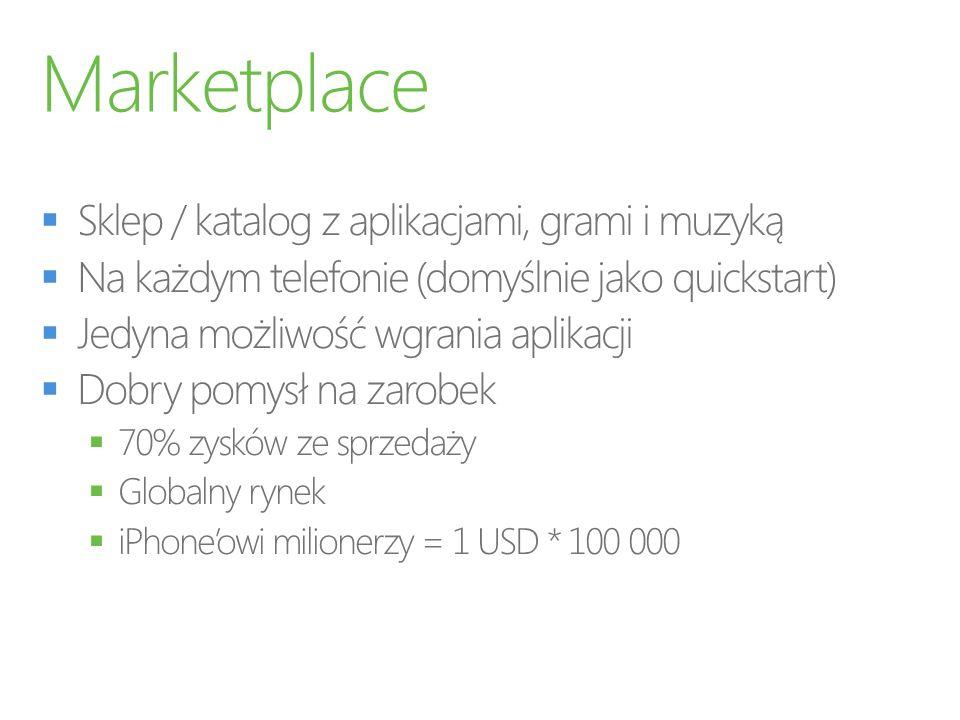 Marketplace Sklep / katalog z aplikacjami, grami i muzyką