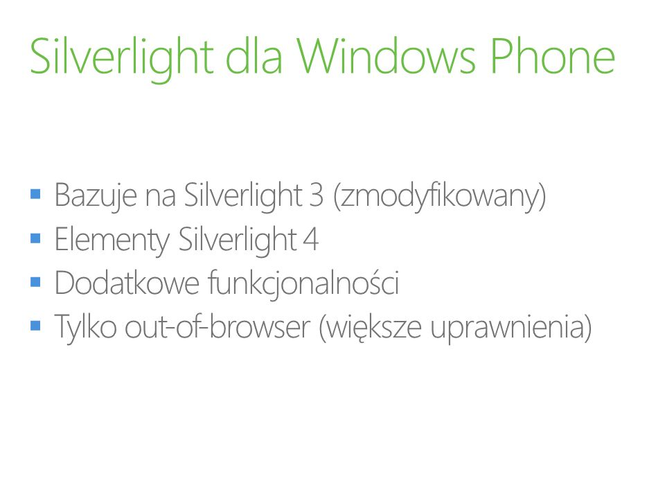 Silverlight dla Windows Phone