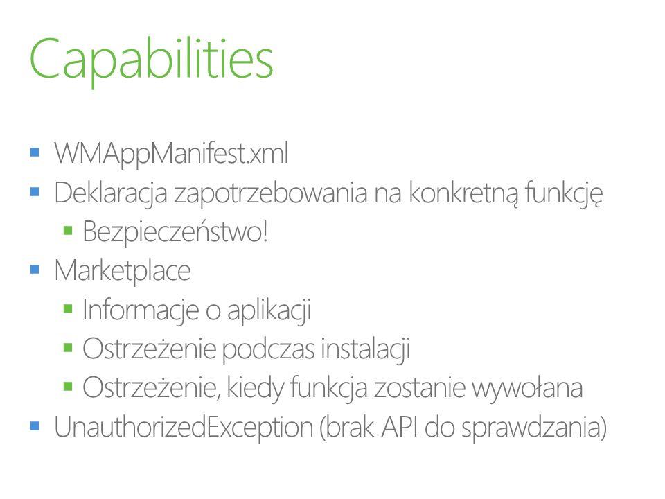 Capabilities WMAppManifest.xml