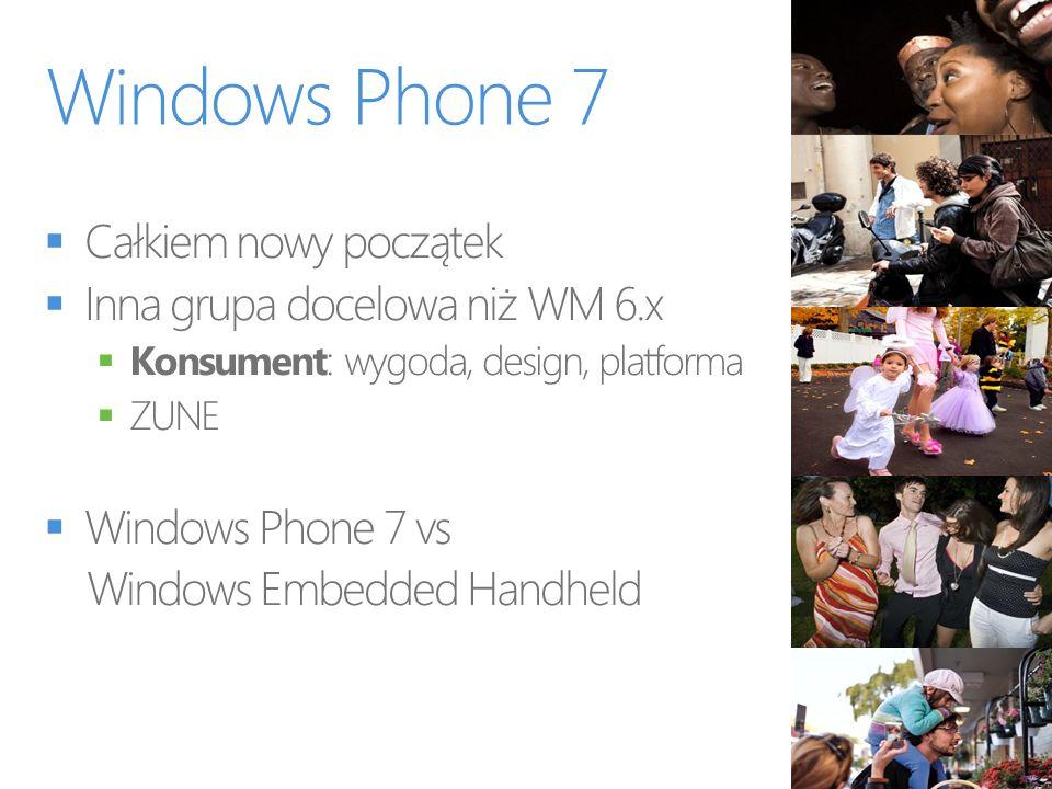 Windows Phone 7 Całkiem nowy początek Inna grupa docelowa niż WM 6.x