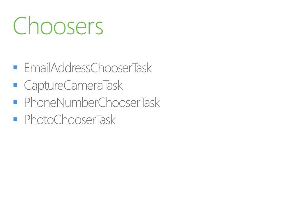 Choosers EmailAddressChooserTask CaptureCameraTask