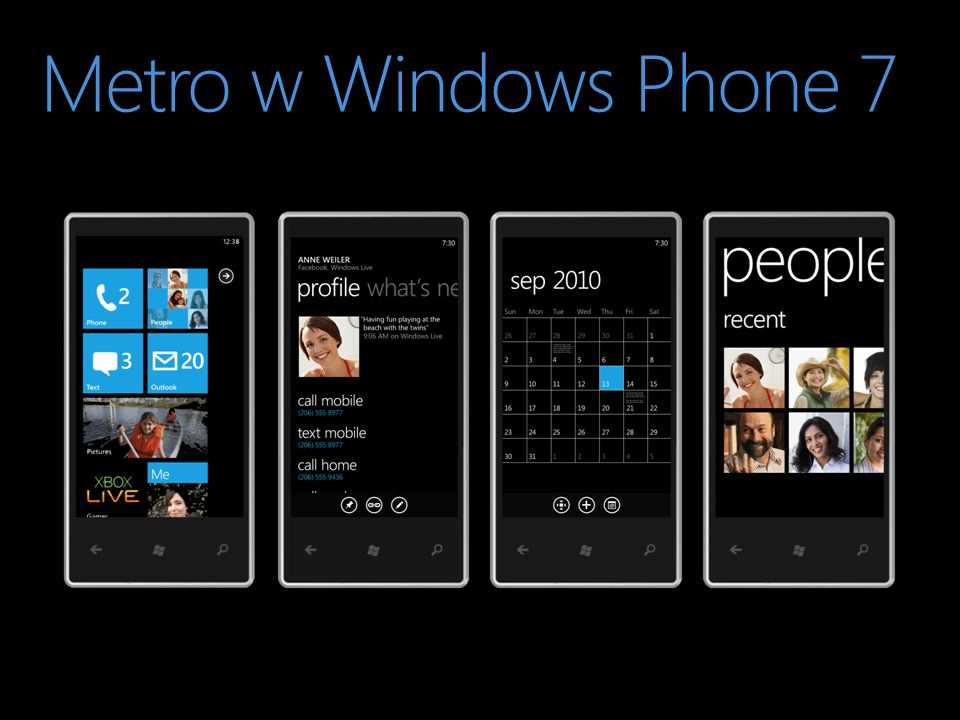 Metro w Windows Phone 7