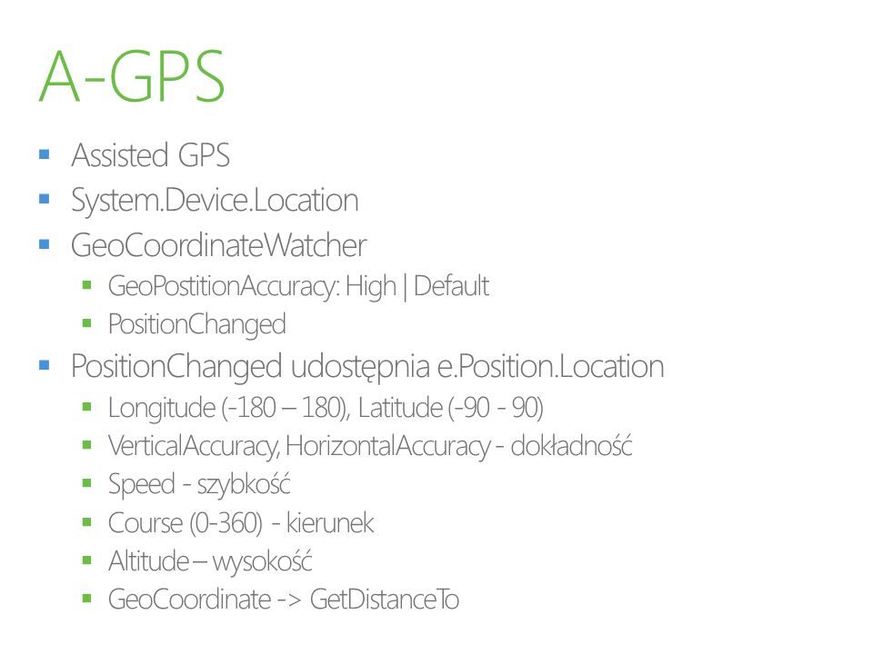 A-GPS Assisted GPS System.Device.Location GeoCoordinateWatcher