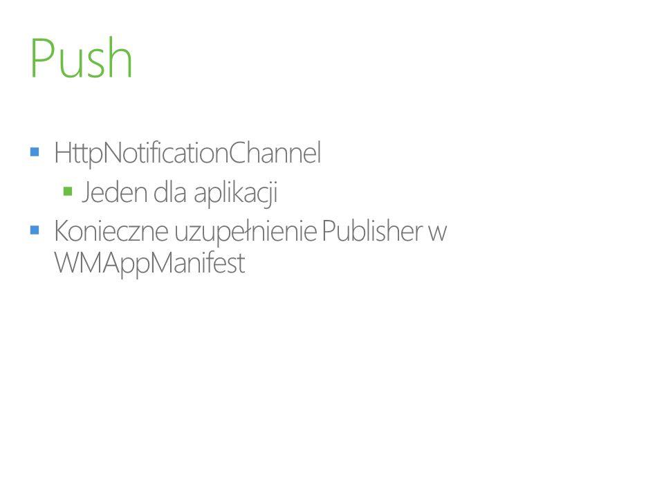 Push HttpNotificationChannel Jeden dla aplikacji