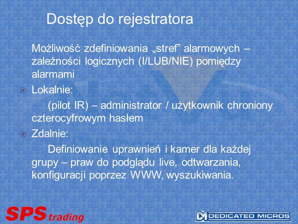 Dostęp do rejestratora