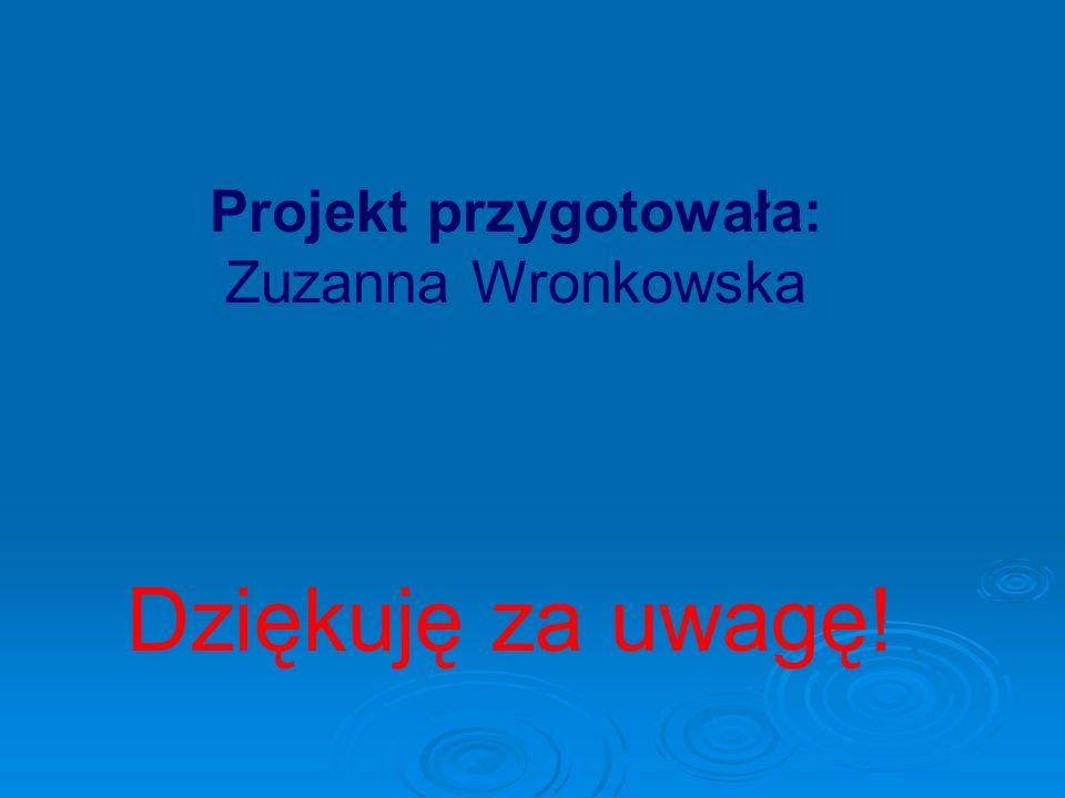 Projekt przygotowała: Zuzanna Wronkowska