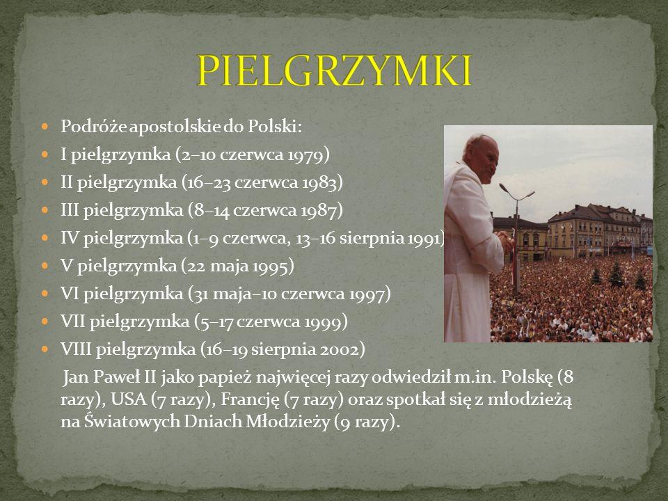 PIELGRZYMKI Podróże apostolskie do Polski:
