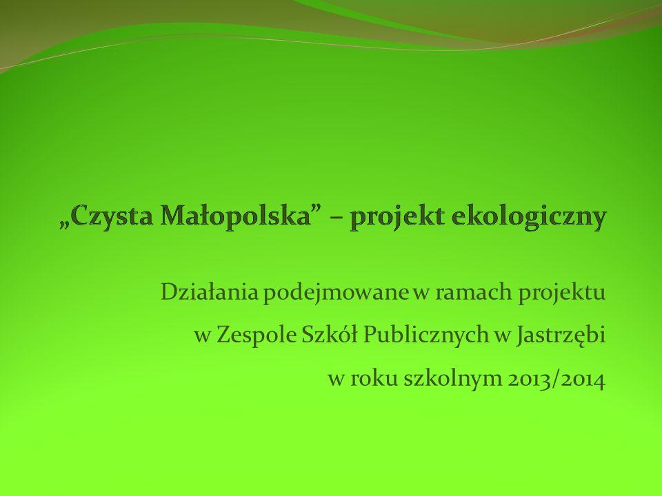 """""""Czysta Małopolska – projekt ekologiczny"""