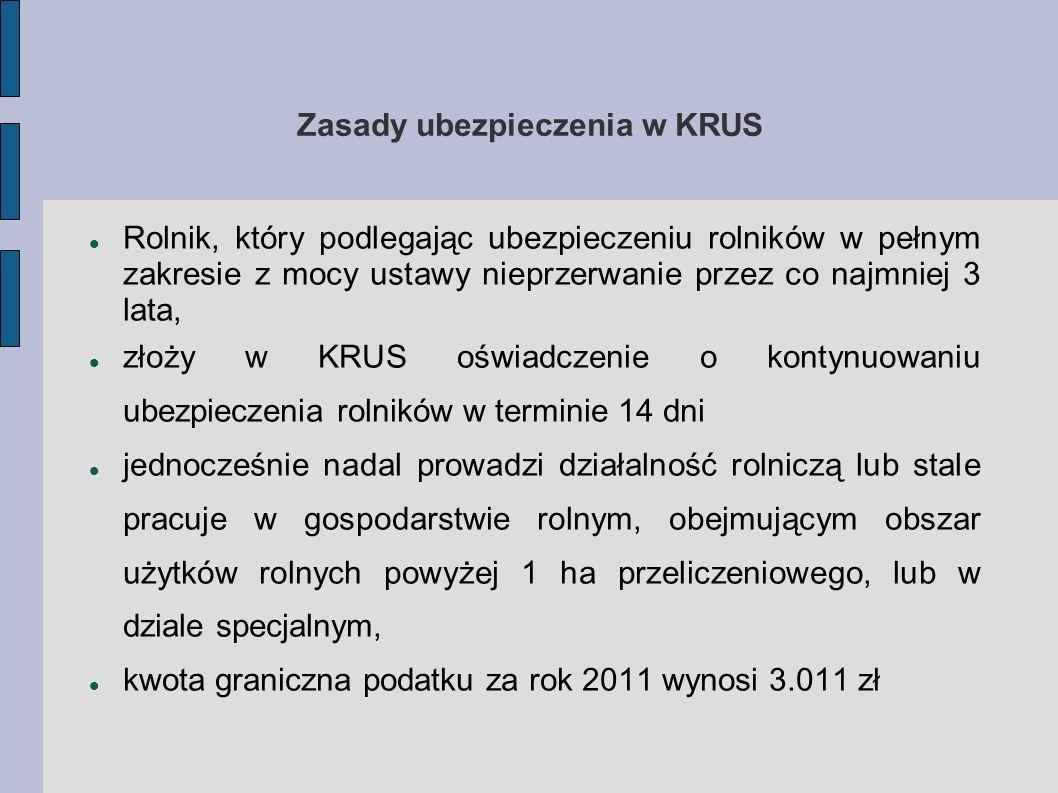 Zasady ubezpieczenia w KRUS