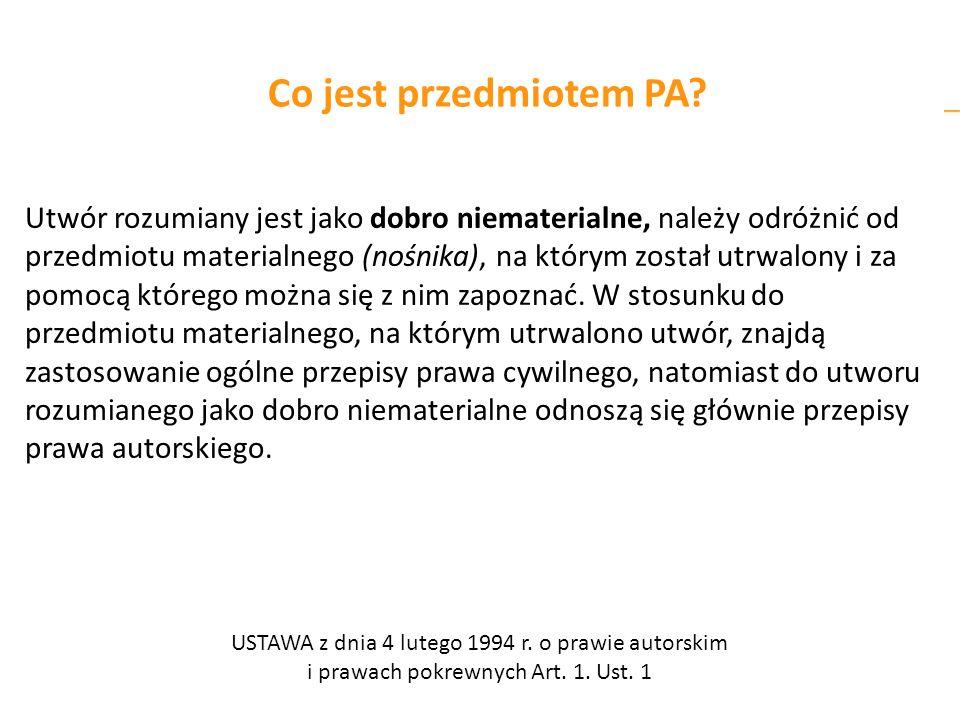Co jest przedmiotem PA