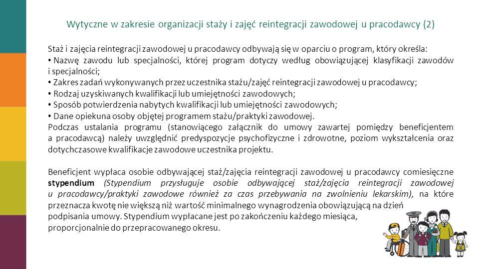 Wytyczne w zakresie organizacji staży i zajęć reintegracji zawodowej u pracodawcy (2)