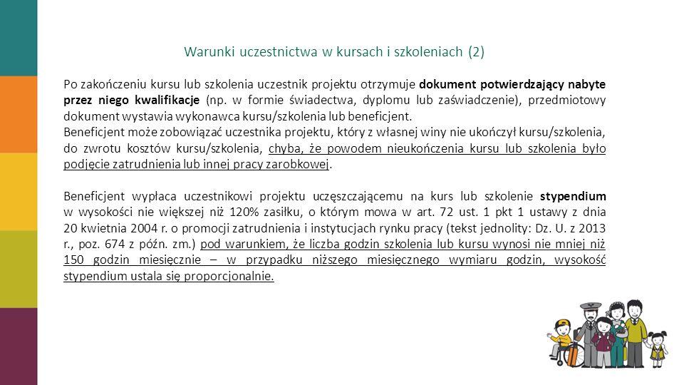 Warunki uczestnictwa w kursach i szkoleniach (2)