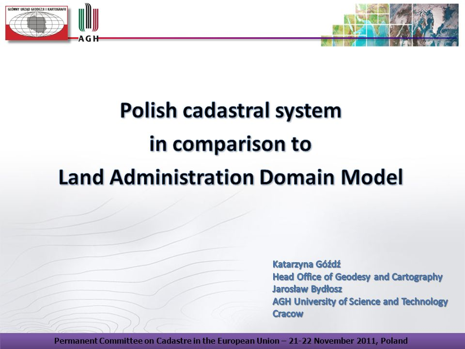 Polish cadastral system Land Administration Domain Model