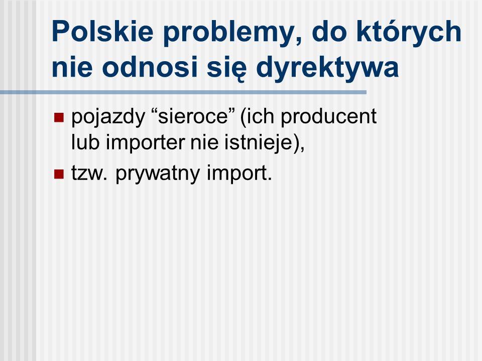 Polskie problemy, do których nie odnosi się dyrektywa