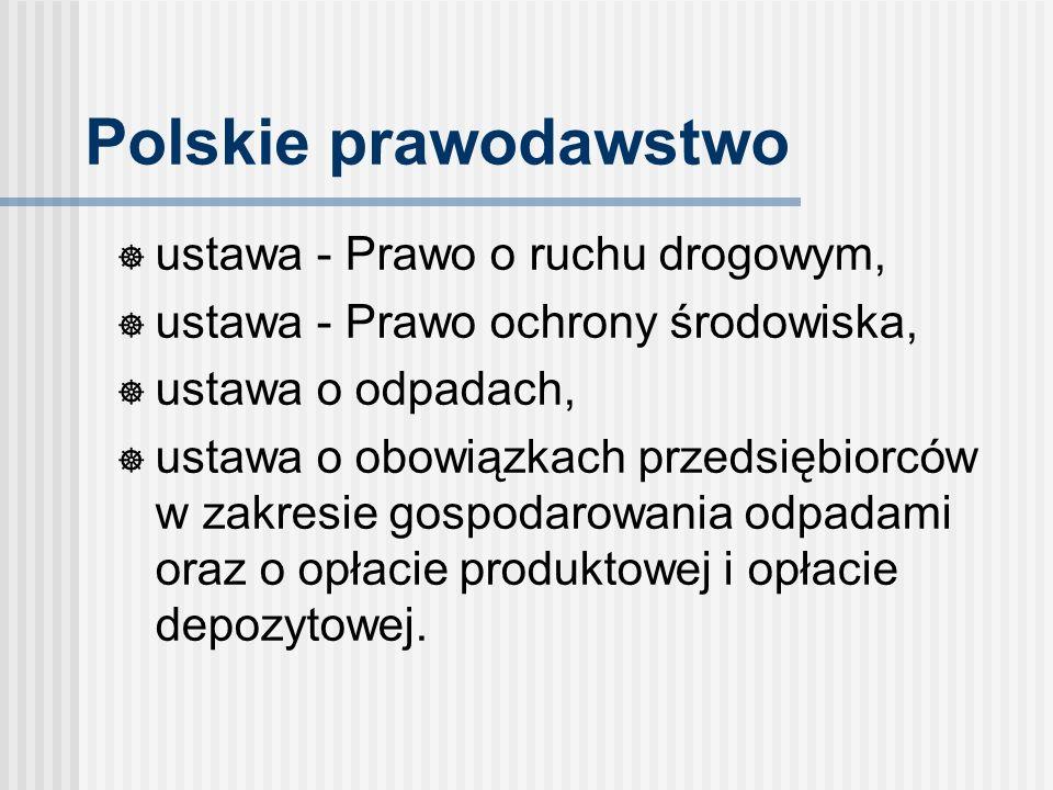 Polskie prawodawstwo ustawa - Prawo o ruchu drogowym,