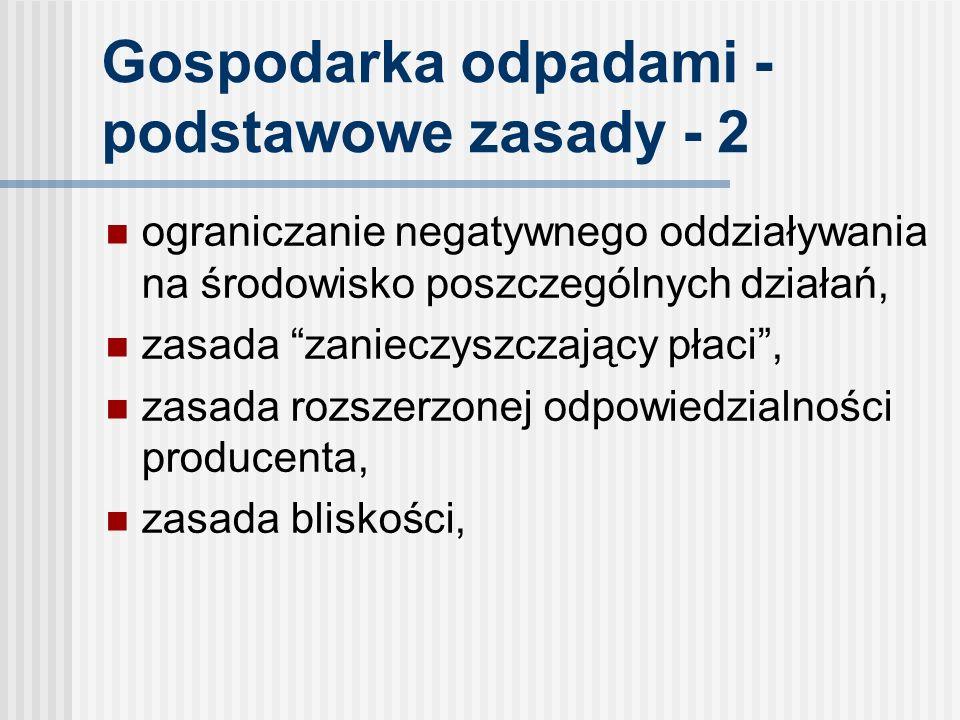 Gospodarka odpadami - podstawowe zasady - 2