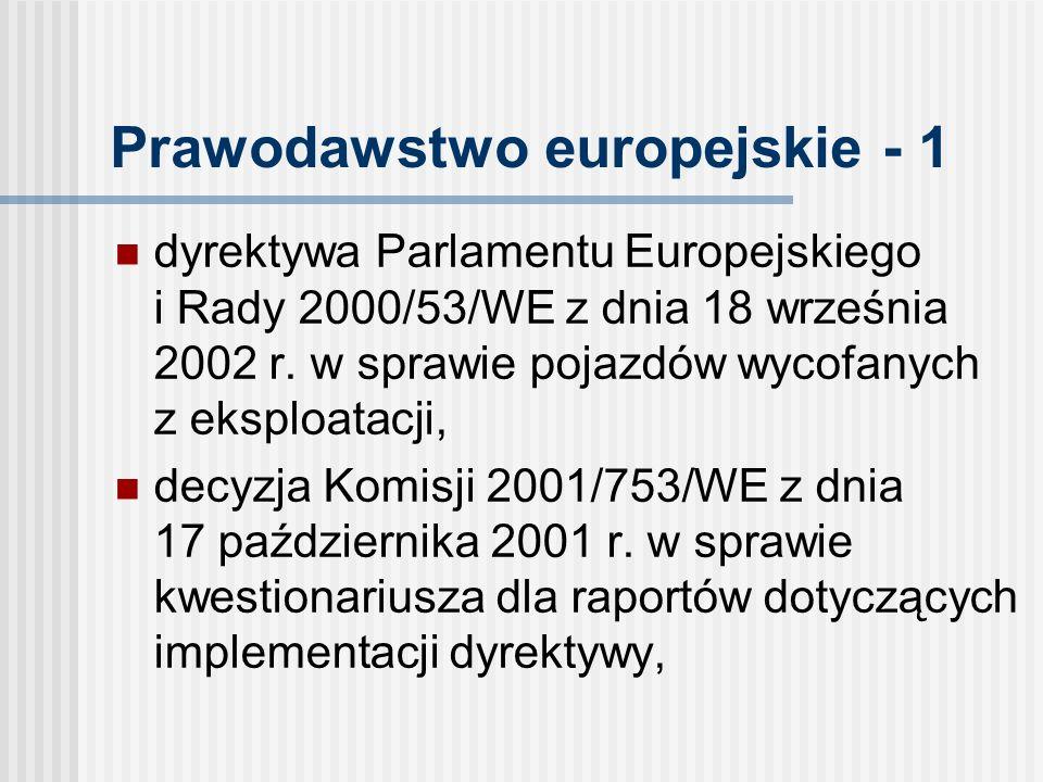 Prawodawstwo europejskie - 1