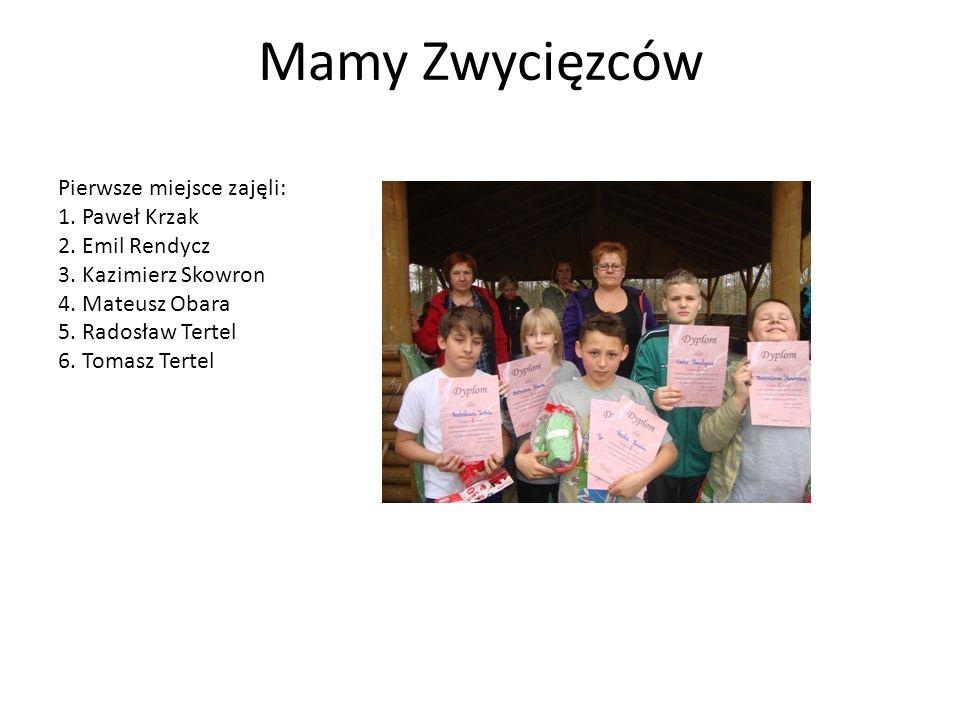 Mamy Zwycięzców Pierwsze miejsce zajęli: 1. Paweł Krzak 2.
