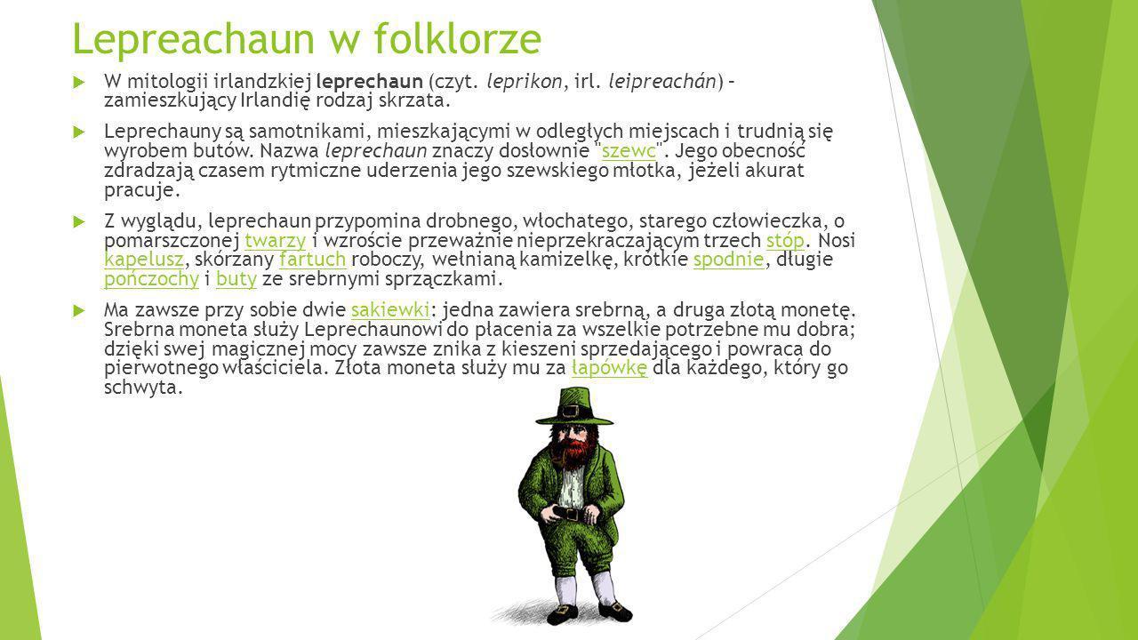 Lepreachaun w folklorze