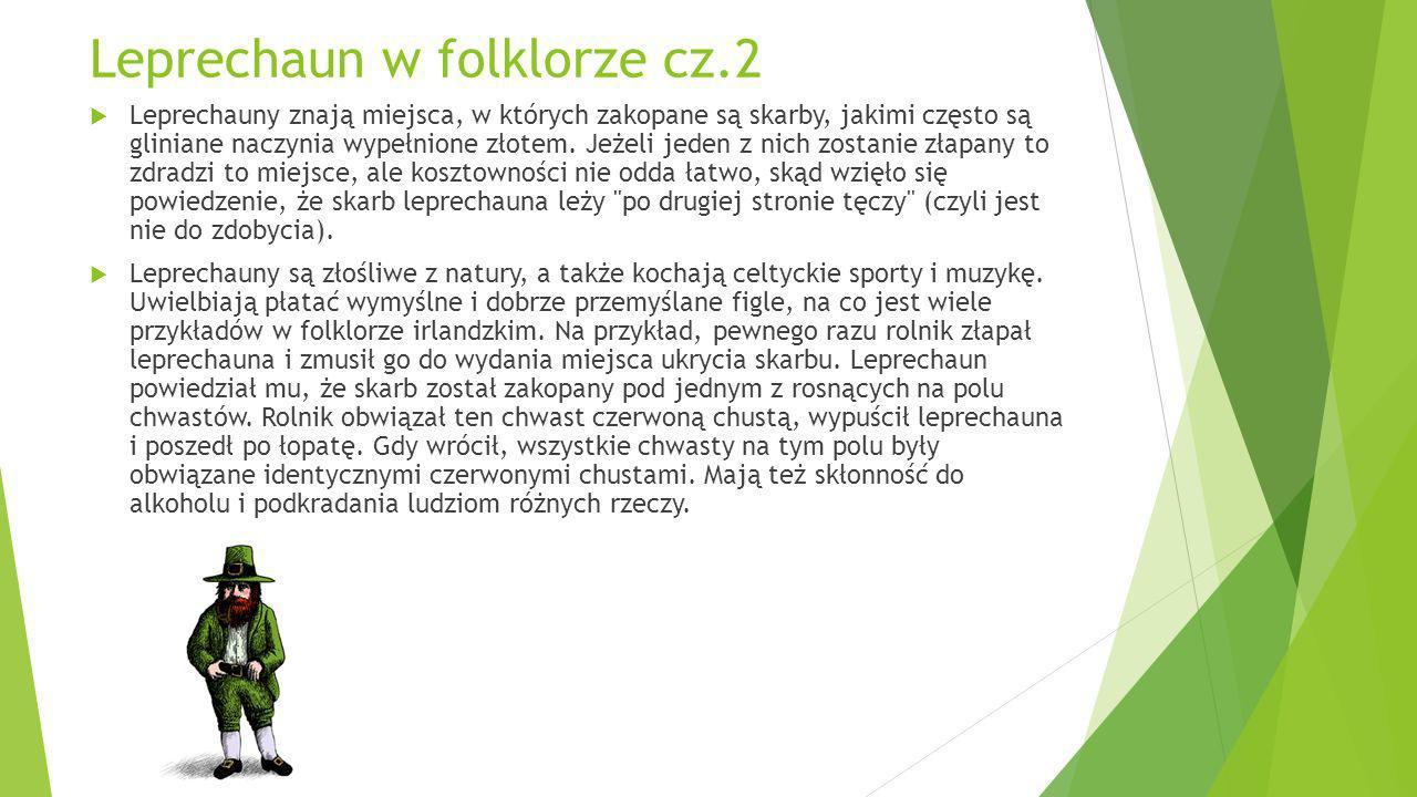 Leprechaun w folklorze cz.2