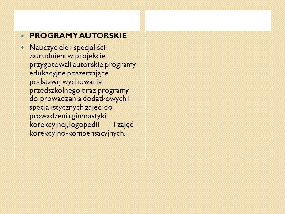 PROGRAMY AUTORSKIE