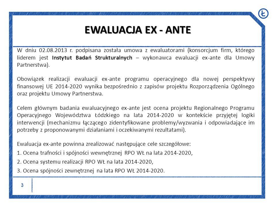 EWALUACJA EX - ANTE