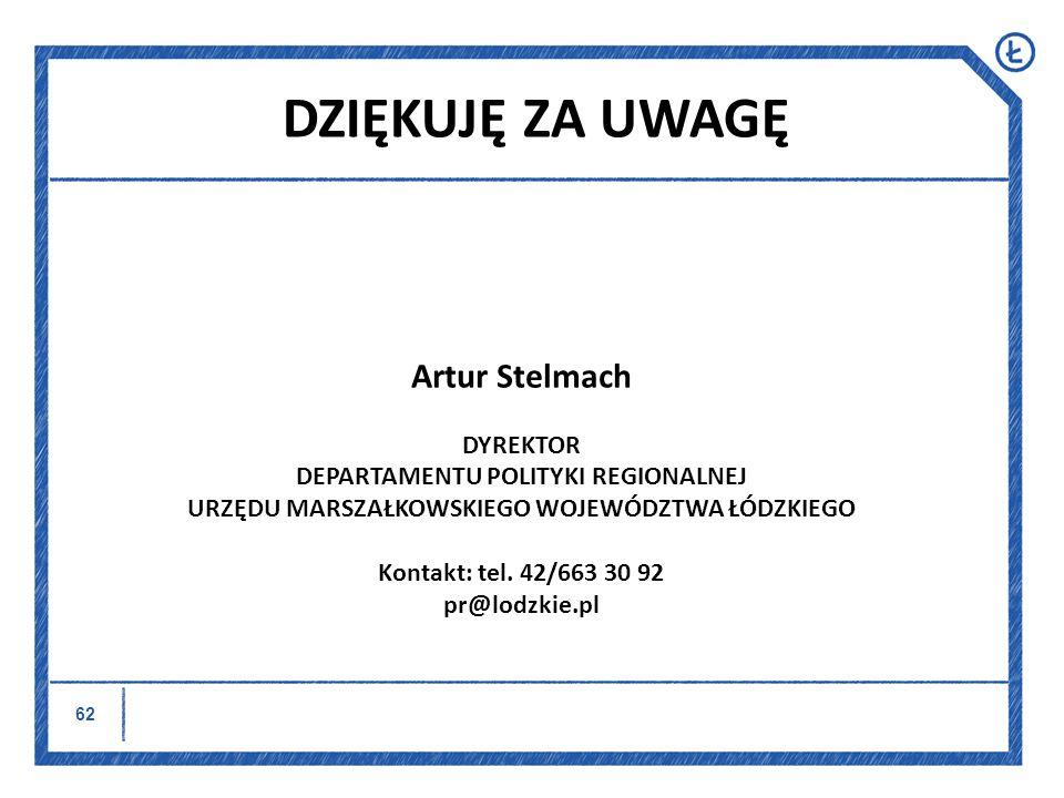 DZIĘKUJĘ ZA UWAGĘ Artur Stelmach DYREKTOR