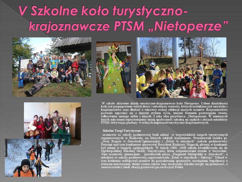 """V Szkolne koło turystyczno- krajoznawcze PTSM """"Nietoperze"""
