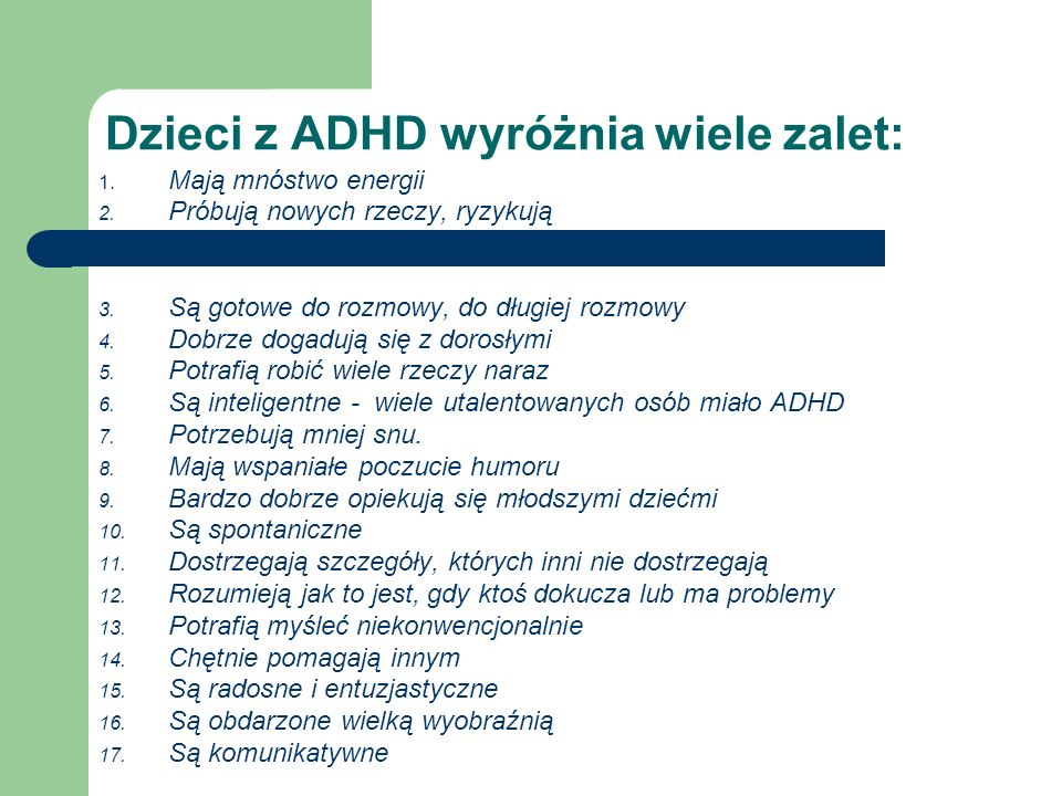 Dzieci z ADHD wyróżnia wiele zalet: