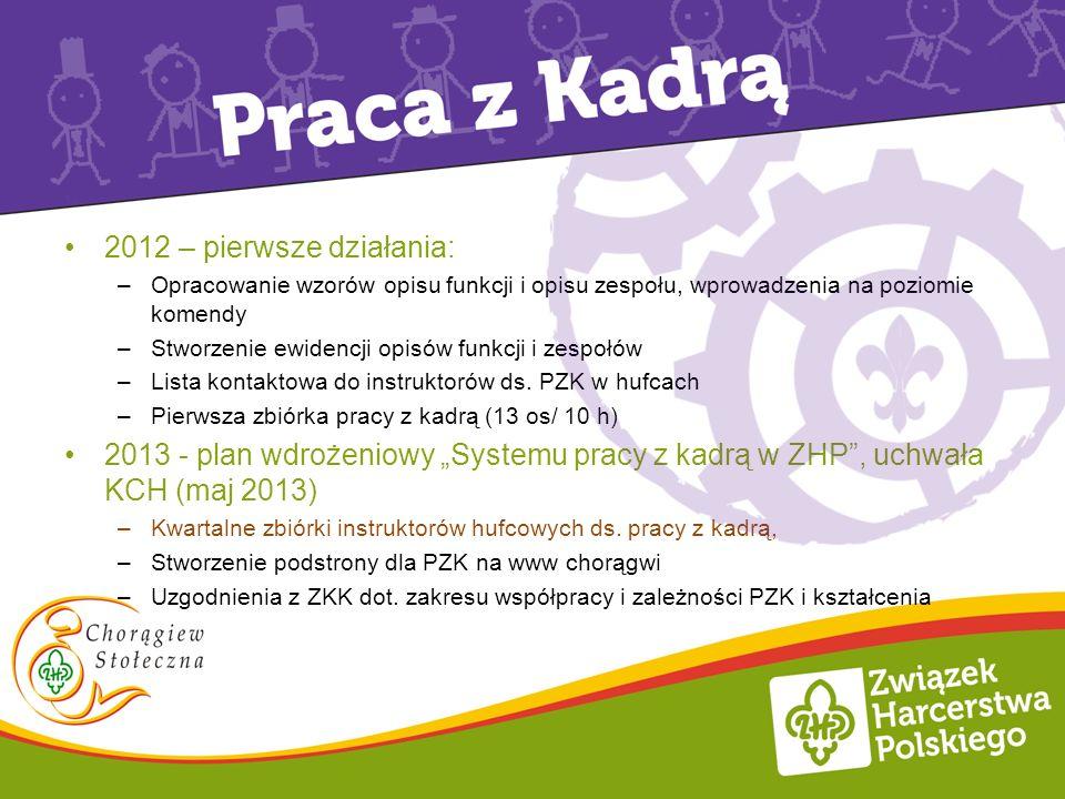 Plany i działania 2012 – pierwsze działania: