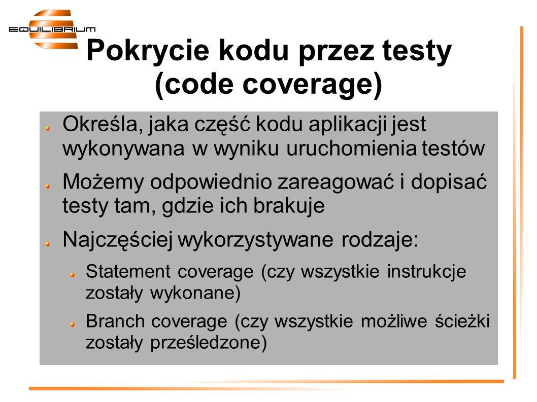 Pokrycie kodu przez testy (code coverage)