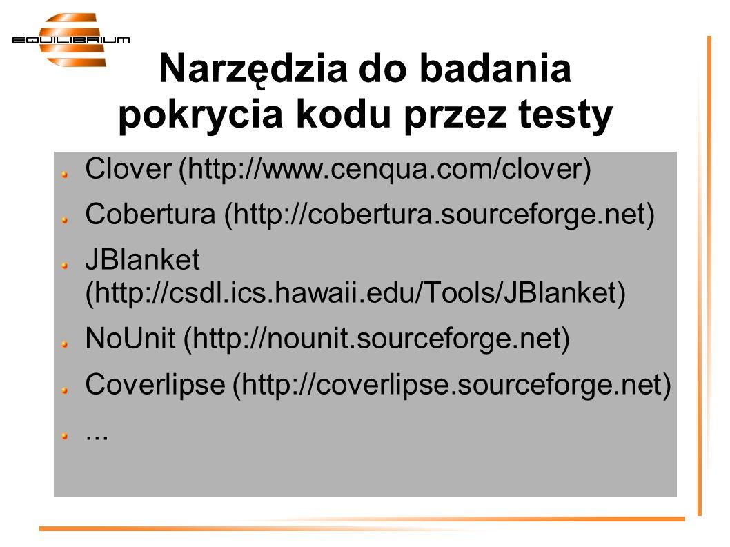 Narzędzia do badania pokrycia kodu przez testy