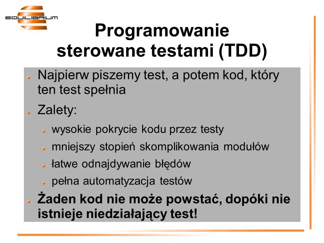 Programowanie sterowane testami (TDD)