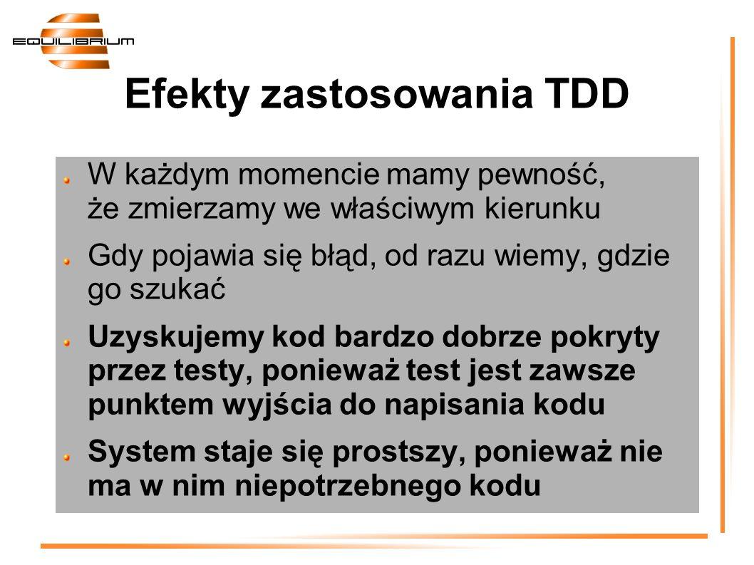 Efekty zastosowania TDD